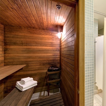 Sauna Located On The Penthouse Level