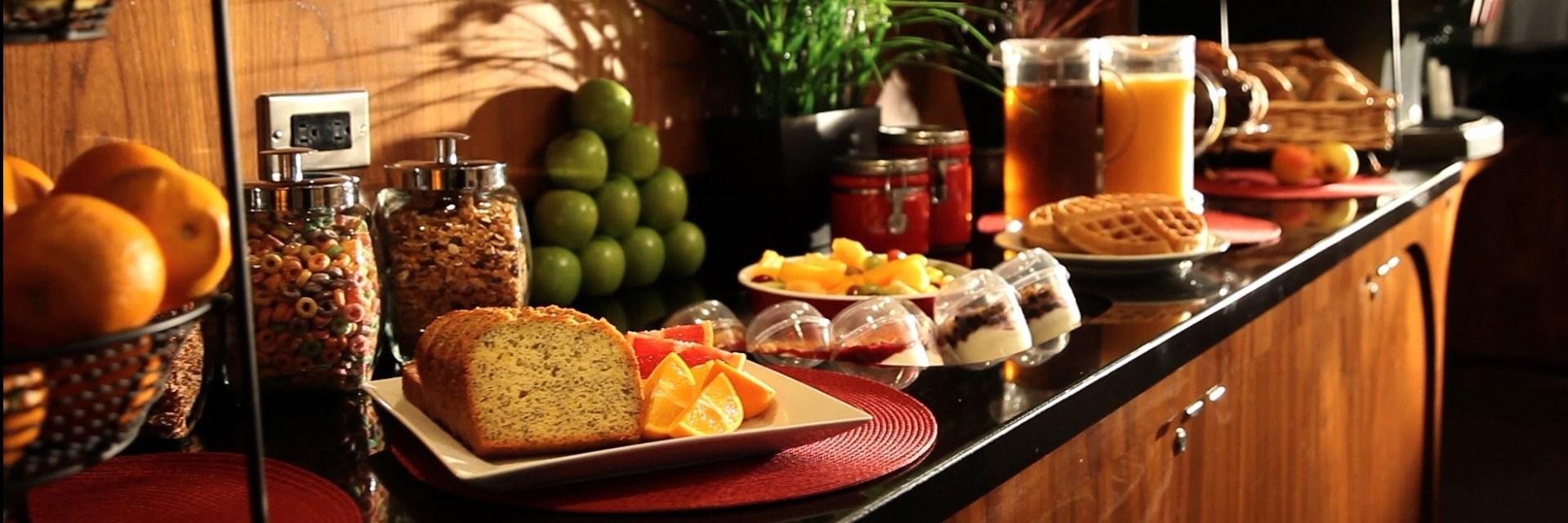 Daily Fresh Breakfast at Residence Inn Montreal
